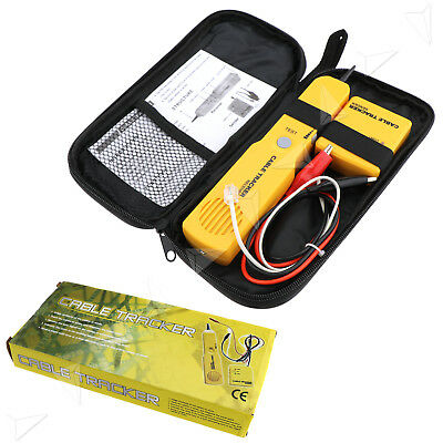Cable Tester Network Wire/LAN Tone Generator Probe Tracker Tracer Kit For RJ11