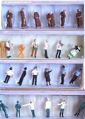Preiser Occupational Figures H0 scale 1:87, new in box - CHOOSE