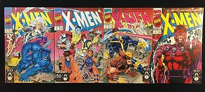 X-Men #1 Variant Set of 4 Connecting Covers Wolverine Jim Lee NM CGC IT!