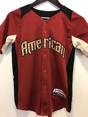2011 Mlb All Star Game Robinson Cano Majestic Baseball Jersey Youth Sz M Snake
