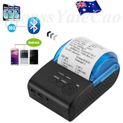 58mm Portable Bluetooth 4.0 Wireless Receipt Thermal Printer For Android PC AU