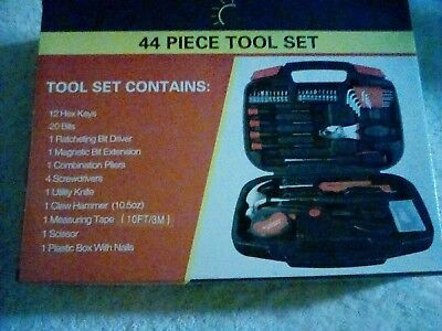 HAND TOOL SET  w, CASE  44  PIECE  SET  NEW  IN  BOX