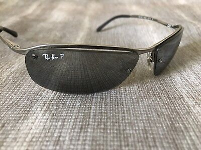 8f3233425a61ed RAY BAN Sunglasses Silver Frame RB 3183 004 82 Scratched Lens. Parts Repair