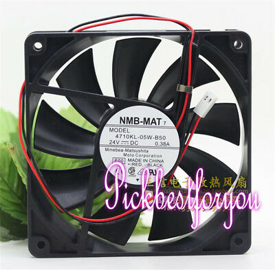 NMB-MAT 4710KL-05W-B50 24V 0.38A 120*120*25MM 2PIN Inverter cooling fan #MY96 QL