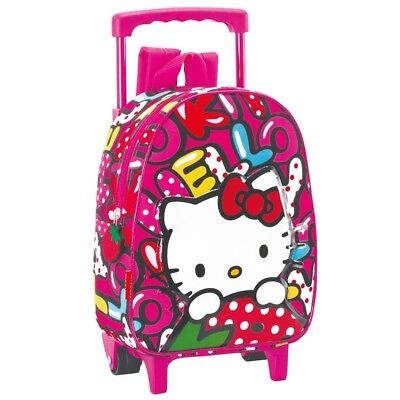 Sac à roulettes Hello Kitty Sweetness 28 CM maternelle