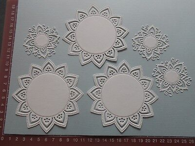 Die cuts - Mats - 6 pieces  Embossed card toppers, embellishments