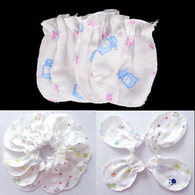 2 Pairs Baby Infant Soft Cotton Anti Scratch Mittens Gloves Baby Accessories new