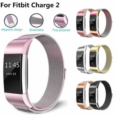 For Fitbit Charge 2 Strap Replacement Milanese Band Stainless Steel Magnet ☆UK☆!