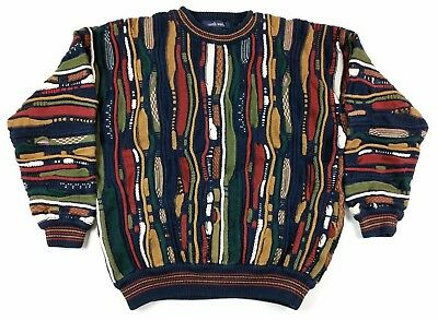 VTG NORTH WALES Mens Coogi Style Sweater Large Cosby Biggie