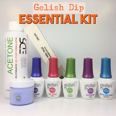 Gelish Dip SNS 1 Dipping Powder Choice of Color Acetone Liquids Nail Kit