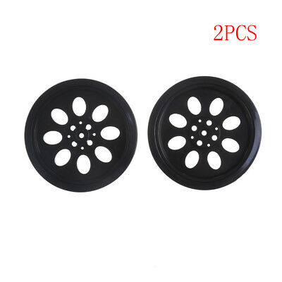 2PCS 70mm T25 Rubber Wheels Match 360 Degree Servo Wheels Parts For DIY Robot Ta