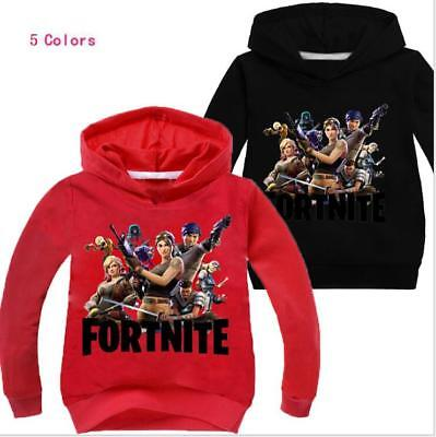 Fortnite Kids Hoodie Boys Girls Sweatshirt Jacket Coats Game Clothing 2-11Years