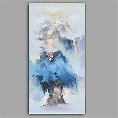 Large Abstract Hand-Painted Scenery Oil Painting On Canvas Living Room Decor Art