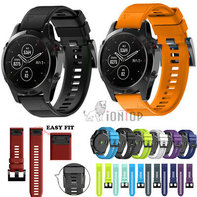 Replacement Silicagel Soft Band Quick Install Wrist For Garmin Fenix 5 5X Plus