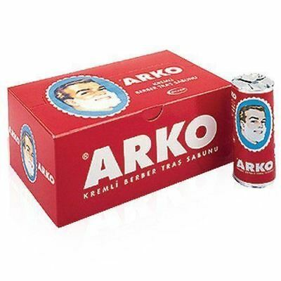 ARKO Shaving Soap STICK | Traditional Turkish Shave Cream | 75g x 12 Sticks