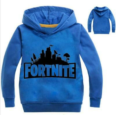 Fortnite Logo Kids Hoodie Boys Girl Sweatshirt Jacket Sweater Clothing 2-11Years