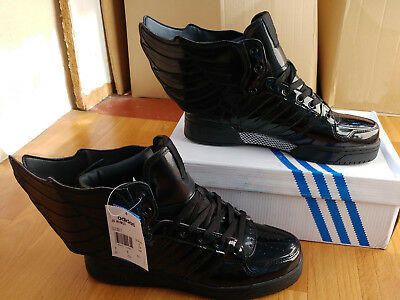 8151aa3f6952 ADIDAS JEREMY SCOTT Wings 2.0 Blackout LE Black Patent Leather (Q23668)  size 9