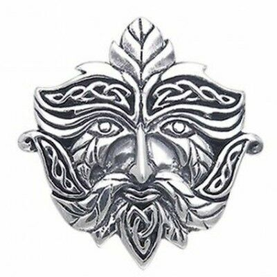 GREEN MAN PENDANT Sterling Silver Wicca Pagan Nature Spirit BY PETER STONE