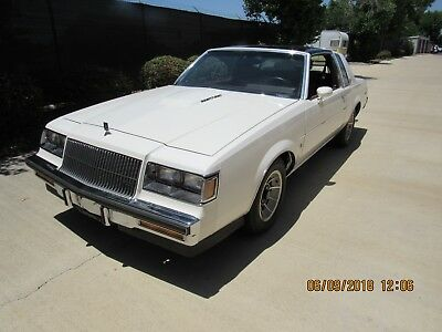 1987 Buick Regal White Grand National T Type T Top Turbo