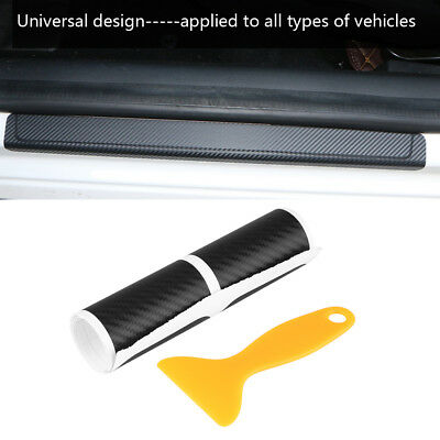 4Pcs PVC Universal Car Door Sill Scuff Plate Cover Anti Scratch Slip Sticker Set
