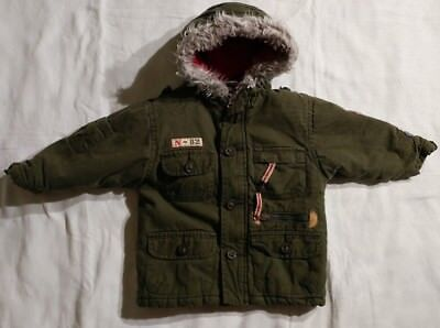 b62c9eb39 BOYS ZIP UP Hooded Coat Green Size 18 Months -  3.99