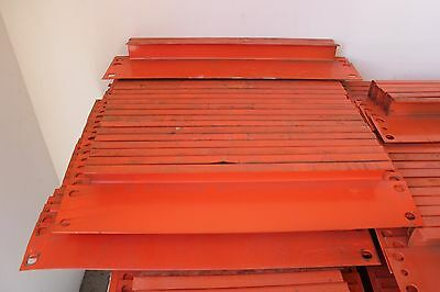 "24 Pcs. Of Pallet Rack 24"" Row Spacers - Orange Color - In Used Condition"