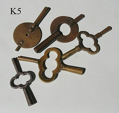 An Assortment of Double Ended Clock Keys