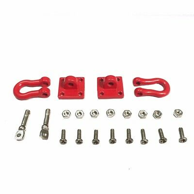 Trailer Hook Chain Tow Buckle Rescue Buckle for 1/10 Axial SCX10 90046 RC4WD D90