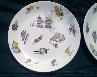 RARE RIDGWAY BARBECUE PATTERN DINNER PLATE HOMEMAKER  Margaret Simpson 1950S