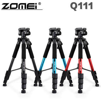 "Black ZOMEI Q111 55"" Professional Aluminum Alloy Camera Tripod for DSLR Camera"