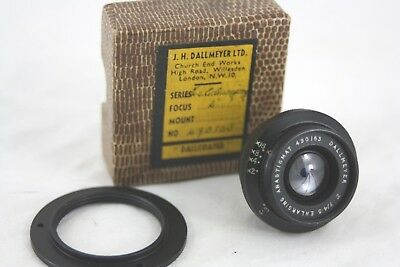 "Dallmeyer Enlarging Lens 2"" Inch (50mm) f4.5, boxed, with additional mount."