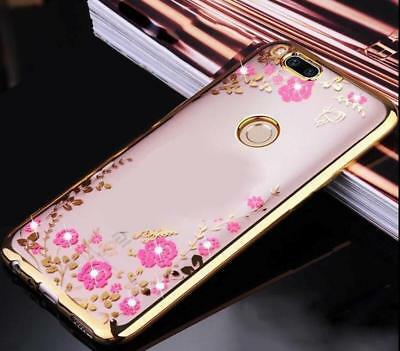 For Xiaomi Mi A1/5X Fashion Ladies Girls Crystal Bling Soft TPU Clear Cover Case