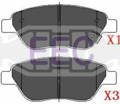 EEC Front Brake Pads Set BRP1394 GENUINE 5 YEAR WARRANTY BRAND NEW
