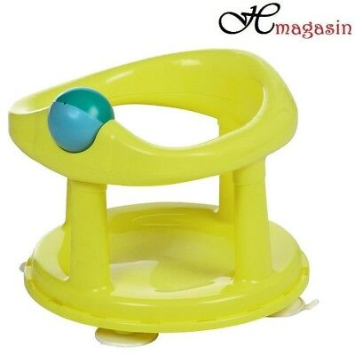 Safety 1st Swivel Bath Seat for Baby (Lime) 6m to 10kg - Easy Clean