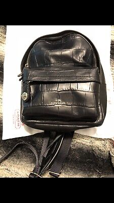 f11363dc4d COACH CAMPUS BACKPACK Black Leather With Rivets   Studs NWT  495 ...