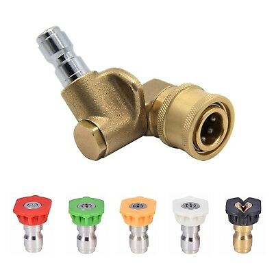 Twinkle Star Pressure Washer Spray Nozzle Tips and Quick Connecting Pivoting ...