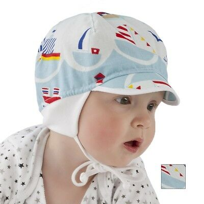 Brand New Light Airy Cotton Colourful Boys/toddler/baby Tied Summer Hat