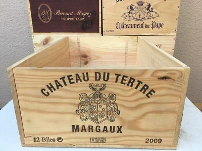 MARGAUX WINE BOX 12 bottle size First Growth Vintage Shabby Chic Storage crate^