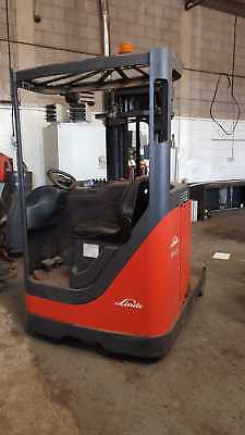 Linde R14 Electric reach truck forklift