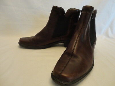 c94d2c42dad ECCO CHELSEA ANKLE BOOTS Women's Brown Leather Slip On SIZE 10 Med (EU 42)