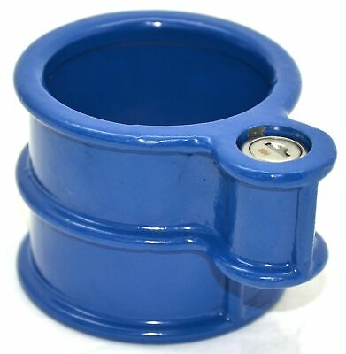 King Pin Lock blue for fifth wheel standard sized fixed king pin with keys