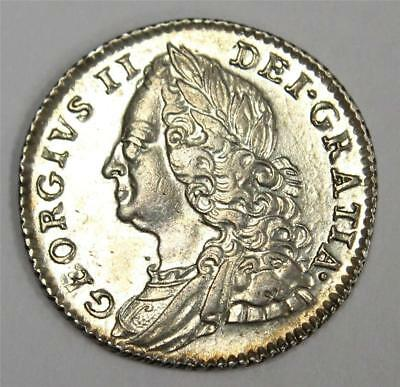 1757 6 pence Great Britain S3711 AU55