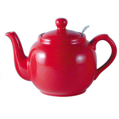 London Pottery Red Traditional 4 Cup Farmhouse Filter Teapot Tea Pot New Boxed
