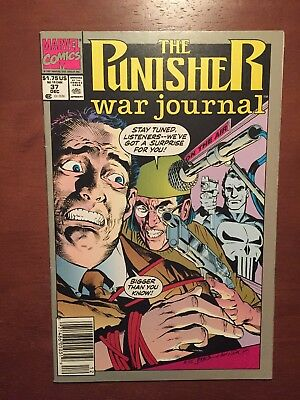 The Punisher War Journal #37 (1991) 8.5 VF Marvel Comics Key Issue Copper Age