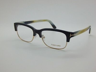 023918a6a9a81 NEW Authentic TOM FORD TF 5307 001 Black-Gold  Horn 52mm Rx Eyeglasses