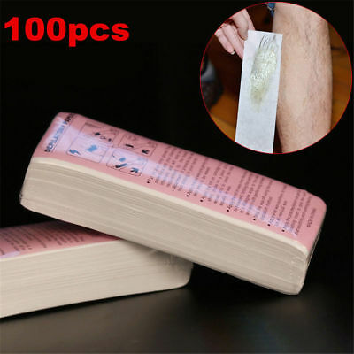 100pcs Non-woven Hair Removal Paper Depilatory Wax Strips Epilator Waxing Tools