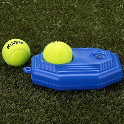 Tennis Ball Training Practice Base Trainer Tool Accessories Plastic Blue C2A3B78