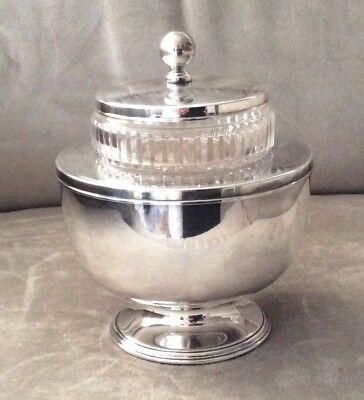 Antique BARKER ELLIS Silver Co England Silverplate Footed CAVIAR Bowl c1912-31