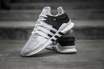 best sneakers 3ccdc 54548 New Adidas EQT Support Advanced Running Shoes Sz 10.5 Grey/Black/White  BB1296