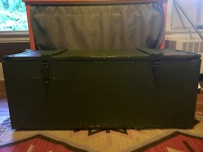 Antique WWII USSR Wooden Gun Crate - Original Paint and Stampings